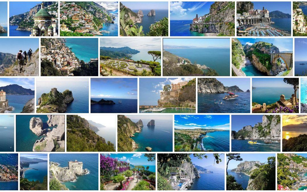 Amalfio pakrantė vasarą